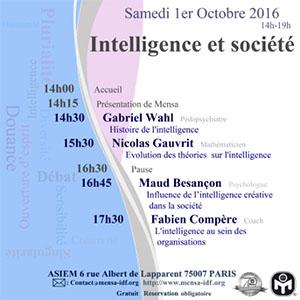 Octobre 2016 – Intelligence Day Paris