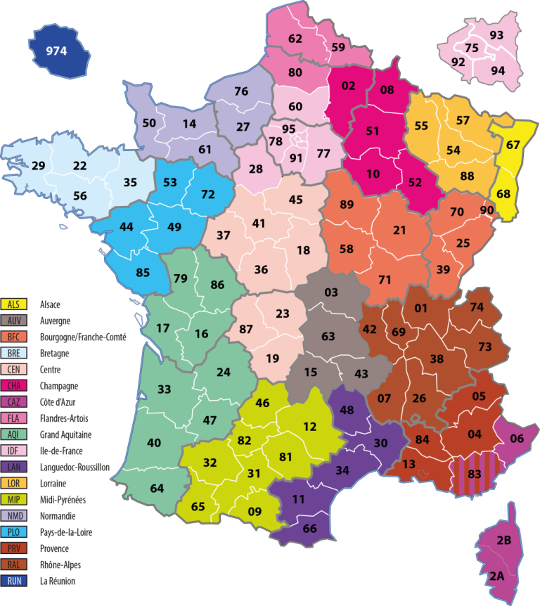 Carte regions - MENSA France