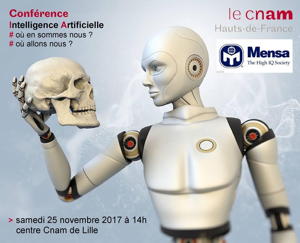 Conférence : Intelligence Artificielle le 24 novembre à Lille